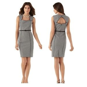 WHBM Modern Gingham Sheath Dress -10